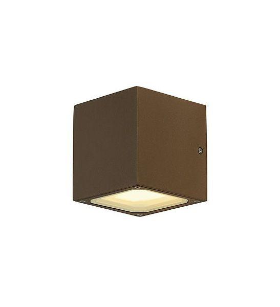 Applique d exterieur sitra cube en fonte rouillee declic for Cube luminaire exterieur